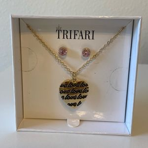 Trifari necklace with earrings set
